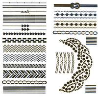Metallic Jewelry Temporary Tattoos Gold Combo One Size For Women 25396007901