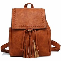 Kenox Vintage PU Leather Women Small Backpack Purse Fashion Mini Travel Bag for Girls