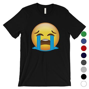 Emoji-Crying Mens Sad Mood Feelings Emoji Costume T-Shirt Gag Gift