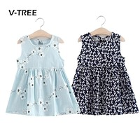 Summer Baby Girls Sleeveless 18M-6Year Dress