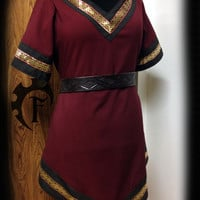 Customizable Women Viking Tunic, medieval, fantasy, trim, larp, larping, cosplay, costume