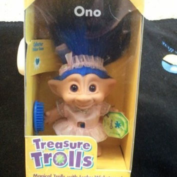 "Treasure Trolls Magical Trolls with Lucky Wishstones! ""Ono"""