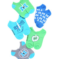 Disney Pixar Monsters, Inc. No-Show Socks 5 Pair