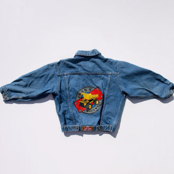 SALE Vintage Tonka Truck Tough Built Workwear Jean Jacket