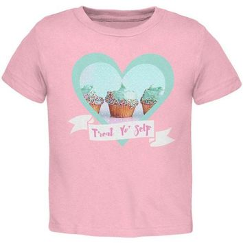 ONETOW Treat Yo Self Cupcakes Toddler T Shirt