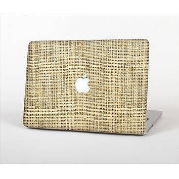 The Burlap Texture Skin Set for the Apple MacBook Pro 15""