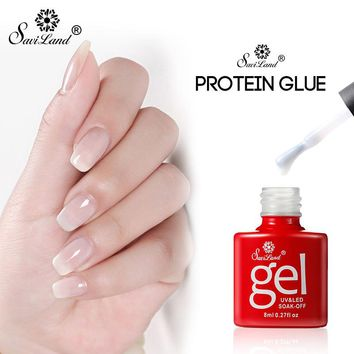 Saviland  Transparent Opal Jelly Gel White Gel Polish Clear Milky Protein Color Gel Nail Varnish Soak Off UV Gel Nail Art