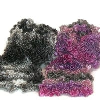Hand KnitWomens Fashion Yarn Scarf - Fashion Accesories - Ready to Ship