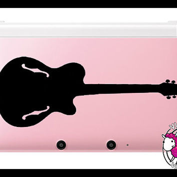 Acoustic Guitar Nintendo 3DS XL Skin Quote Vinyl Decal Stickers (Multiple Colors Available) Music Instrument Band Electric