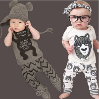 TZ-280 New summer cotton children's clothing boys short sleeve baby girl clothes newborn clothes suit baby clothes for boy 2017