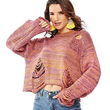 Fall Winter Sweater Pullovers Hollow Out Cardigan
