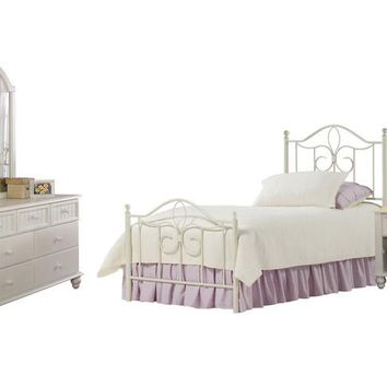 1354 Westfield Metal Bed - Full, Rails, Nightstand, Dresser, and Mirror - Free Shipping!