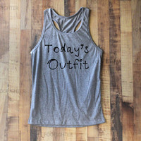Today's Outfit Shirt Tank Top Racerback Racer back T Shirt Top – Size S M L