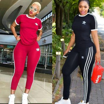 NEO Print Women Short Sleeve Tracksuit Summer Fashion Breathable Sports Suit With Long Pants Pullover Shirts 2pcs female Running