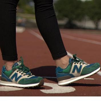 """New balance"" Leisure shoes running shoes men's shoes for women's shoes couples N word  Green blue beige"