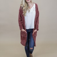 Everywhere Chenille Pocket Cardigan, Rose