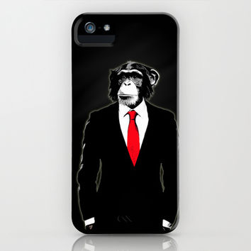 Domesticated Monkey iPhone & iPod Case by Nicklas Gustafsson