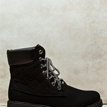 Twisted Quilted Boots
