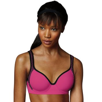 Maidenform Sport Custom Lift Underwire Bra Style: DM7990-Pinksickle/Black 34DD