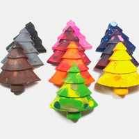 10 Giant Recycled Tree Crayons - reuse, party favors, school supplies, back to school, coloring, art, drawing, kids, boys, girls