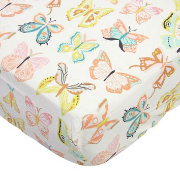 Winged Butterflies - Crib Sheet