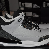 "Air Jordan 3 Retro ""Wolf Grey"" Sz 8"