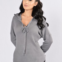 Lonely Hearts Club Sweater - Charcoal