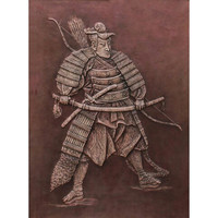 Samurai,power,contemporary art,exclusive wall hanging,home decor,wedding gift,will power,handmade,leather