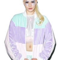 Coveted Society Pastel Faux Fur Jacket Multi