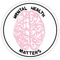 'Mental Health Matters' Sticker by acoollamb