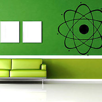 Vinyl Sticker Wall Art Decor Mural Atom Nuclear Science Phisics Chemistry EM024