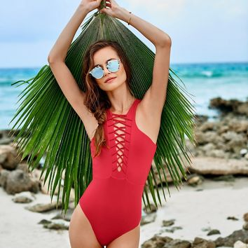 Cherry Red One Piece
