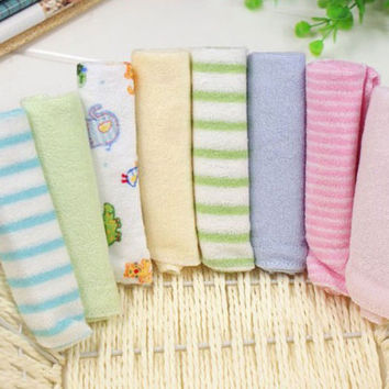 8pcs/lot High Quality Newborn Soft Baby Towels Saliva Towel Nursing Towel For Boys And Girls Bebe Toalha Handkerchief
