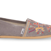 Grey Embroidery Women's Classics