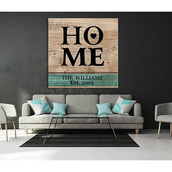 Home Custom House Wall Art Sign Canvas Print Personalized House Gift