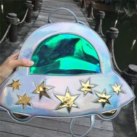 Holographic UFO Backpack