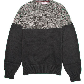 Brunello Cucinelli Lead Colorblock Knit Sweater