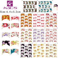KADS 11sheet/SET french nail art  water transfer on finger nail sticker flower design Series nail water sticker for decal
