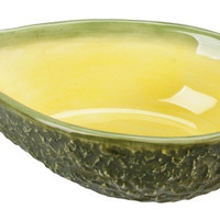 Ceramic Avocado Serving Bowl for 1 cup of Guacamole 7L