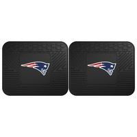 New England Patriots Backseat Utility Mats 2 Pack 14x17