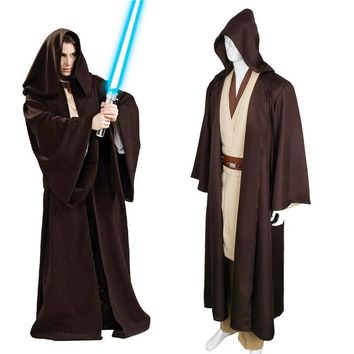 Star Wars Force Episode 1 2 3 4 5 Unisex Halloween  Jedi/Sith Knight Cloak Cosplay Adult/Kids Hooded Robe Cloak Cape Halloween Cosplay Costume Only Cape! AT_72_6