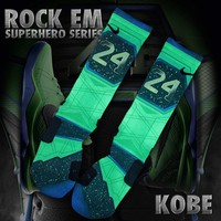 Superhero Custom Nike Elite Socks - Kobe | Rock 'Em Apparel