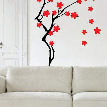 Cherry Blossom Tree Version 2 Decal Sticker Wall beautiful modern boy girl teen child