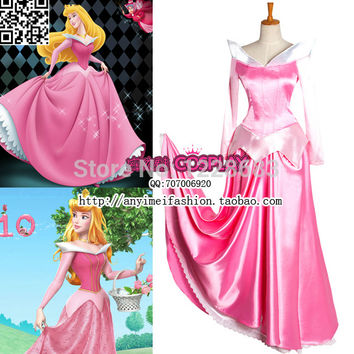 Custom-made Cosplay Beautiful Sleeping Beauty Princess Aurora Fantasia Customes Halloween Costumes For Women