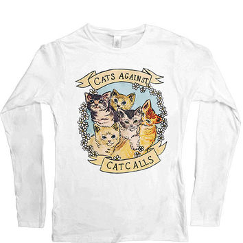Cats Against Catcalls -- Women's Long-Sleeve