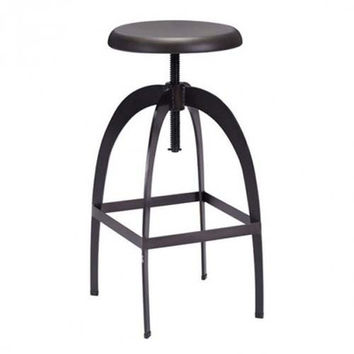 Zuo Modern Aristotle Bar Stool (Antique Black)