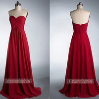 Sweetheart Neck Long Chiffon Prom Dress by KianaEveningDress