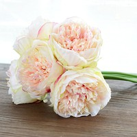 Colours  Bunch  European  Artificial  Flower  Peony