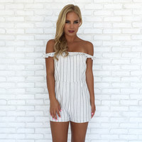 On the Block Stripe Romper