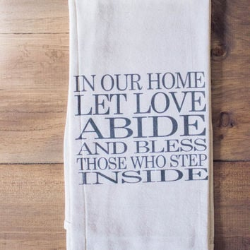 Let Love Abide | Tea Towel